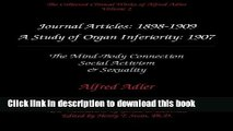 Download Books The Collected Clinical Works of Alfred Adler, Volume 2 - Journal Articles: