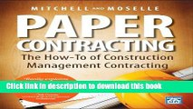 Download Books Paper Contracting: The How-To of Construction Management Contracting ebook textbooks