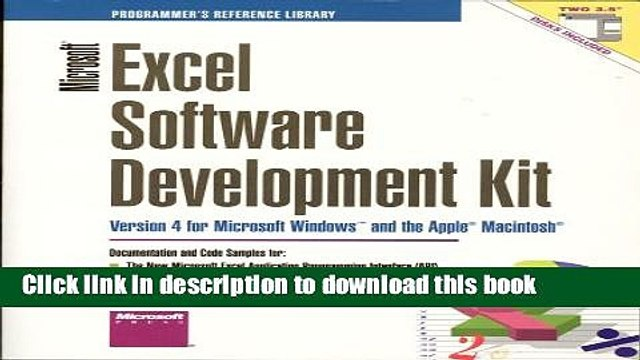 Read Microsoft Excel Software Development Kit: Version 4 for Microsoft Windows and the Apple