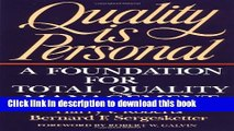 Read Books Quality Is Personal: A Foundation For Total Quality Management ebook textbooks