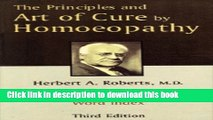 Read Books The Principles and Art of Cure by Homeopathy ebook textbooks