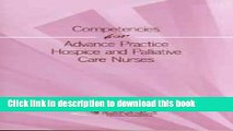 Download Competencies for Advance Practice Hospice and Palliative Care Nurses PDF Free