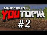 "Minecraft :: Youtopia - #2 ""同Hins好眼訓地落礦洞"""