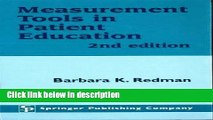 Books Measurement Tools in Patient Education, Second Edition Free Online