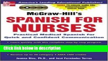 Ebook McGraw-Hill s Spanish for Nurses : A Practical Course for Quick and Confident