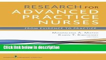 Books Research for Advanced Practice Nurses: From Evidence to Practice Free Online