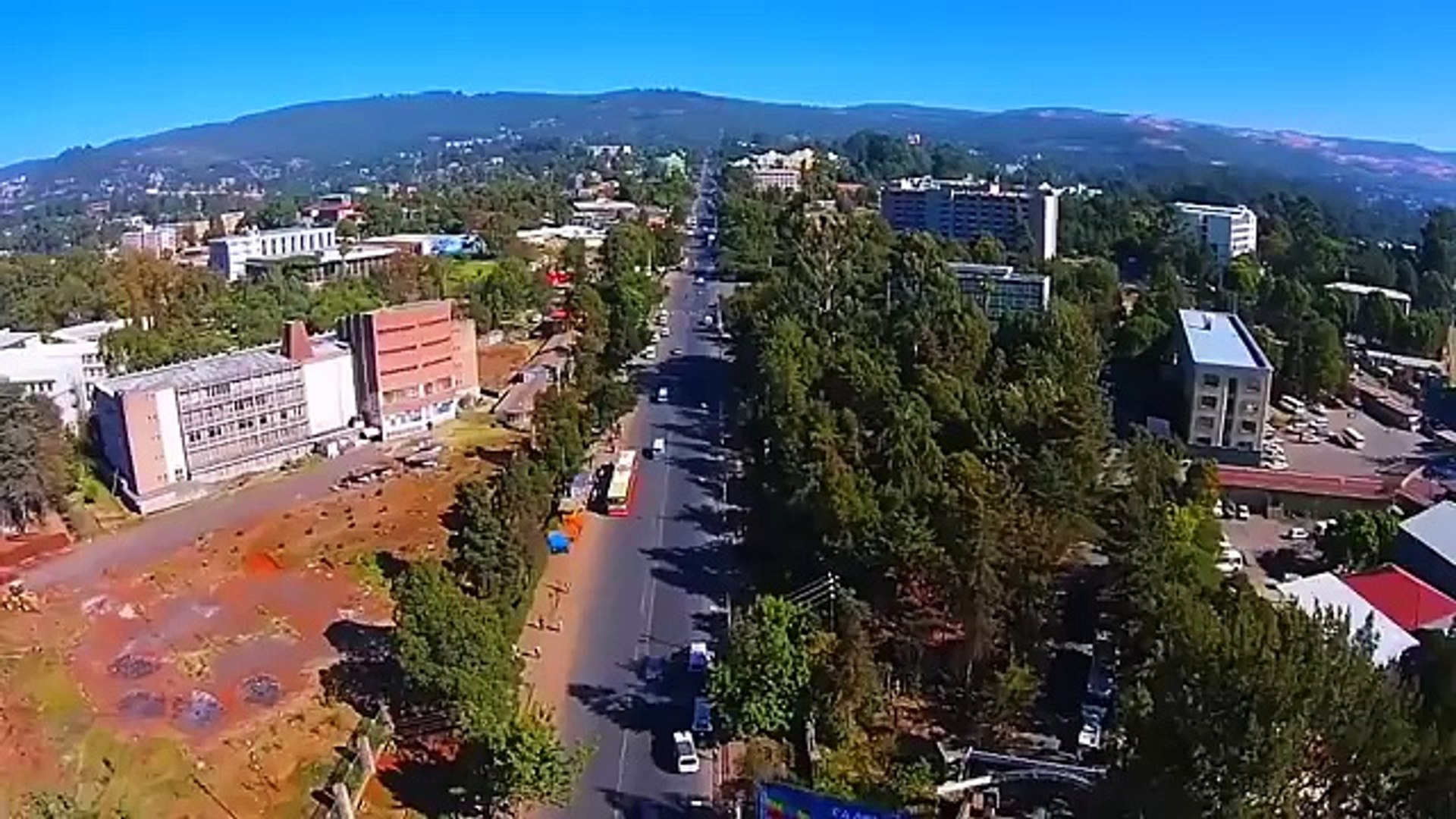 Tour Addis Ababa -drone footage of Addis Ababa ኣዲስ ኣበባን በድሮን July 2016