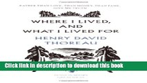 Ebook Where I Lived, and What I Lived For (Penguin Great Ideas) Free Online
