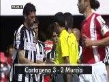 Cartagena 3 - Murcia 2. Jornada 32. Liga Adelante 09/10.