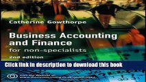 Ebook Business Accounting and Finance: For Non Specialists Free Online