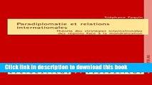 Books Paradiplomatie et relations internationales: Théorie des stratégies internationales des