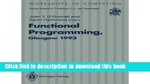 Ebook Functional Programming, Glasgow 1993 Full Online