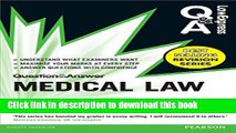 Books Law Express Question and Answer: Medical Law (Law Express Questions   Answers) Free Online