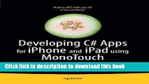Ebook Developing C# Apps for iPhone and iPad using MonoTouch: iOS Apps Development for .NET