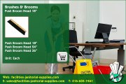 "Toronto Distributor |  Brushes & Brooms: Push Broom Head 18"" , facilities-janitorial-supplies.com"