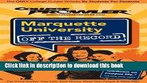 Ebook Marquette University - College Prowler Guide (College Prowler: Marquette University Off the