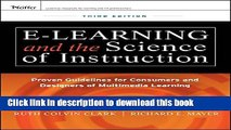 Ebook e-Learning and the Science of Instruction: Proven Guidelines for Consumers and Designers of