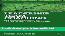 Books Leadership Team Coaching: Developing Collective Transformational Leadership Free Online
