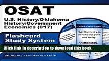 Download  OSAT U.S. History/Oklahoma History/Government/Economics (017) Flashcard Study System: