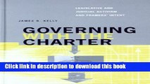 Ebook Governing with the Charter: Legislative and Judicial Activism and Framers  Intent Full Online