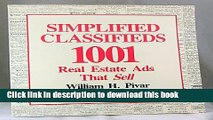 Books Simplified Classifieds: 1,001 Real Estate Ads That Sell Full Download