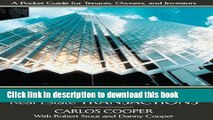 Books Commercial Real Estate Transactions: A Pocket Guide for Tenants, Owners and Investors Full