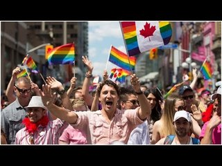 Canadian PM Justin Trudeau joins gay pride march