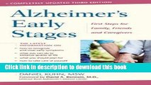 [Read  e-Book PDF] Alzheimer s Early Stages : First Steps for Family, Friends, and Caregivers