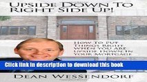 Books Upside Down To Right Side Up!  How to put things right when you are upside down in your