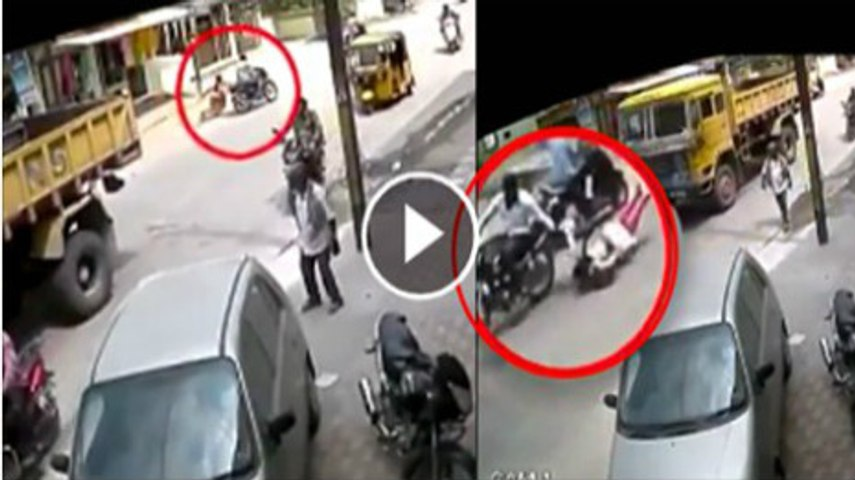 Indian bike women accident