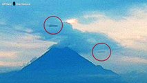 200 Meters, Two UFOs Cigar or Disc Saw Live Webcam On Colima Volcano Mexico, July 29, 2016.