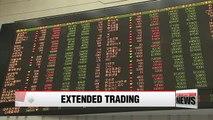 Main Korean stock market to extend trading hours starting Monday