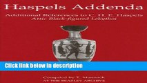 Ebook Haspels Addenda: Additional References to C. H. E. Haspels, Attic Black-figured Lekythoi