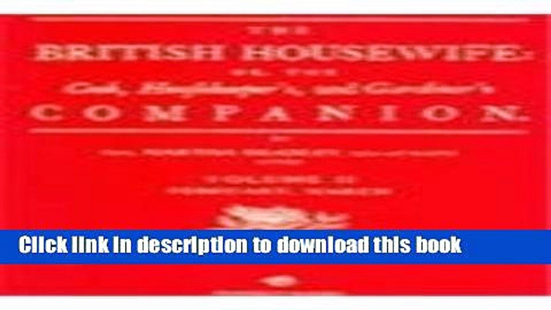 Books The British Housewife, Volume II Full Download
