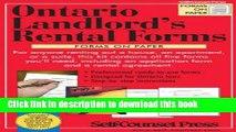 Books Landlord s Rental Forms - Ontario (Paper) Full Online