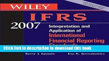 Books Wiley IFRS 2007: Interpretation and Application of International Financial Reporting