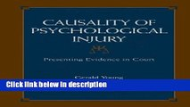 Ebook Causality of Psychological Injury: Presenting Evidence in Court Free Download