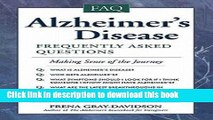 [Read  e-Book PDF] Alzheimer s Disease : Frequently Asked Questions (Paperback)--by Frena