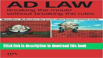 Ebook Ad Law: Breaking the Mould without Breaking the Rules Free Online