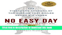 Ebook No Easy Day: The Firsthand Account of the Mission that Killed Osama Bin Laden Full Download