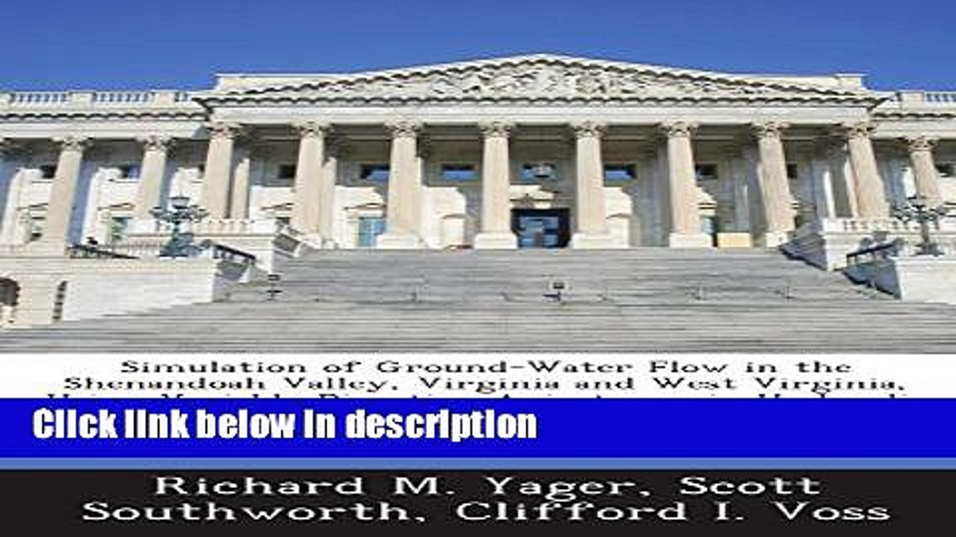 Books Simulation of Ground-Water Flow in the Shenandoah Valley, Virginia and West Virginia, Using