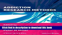 Ebook Addiction Research Methods Full Download KOMP