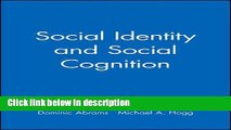 Books Social Identity and Social Cognition Free Online