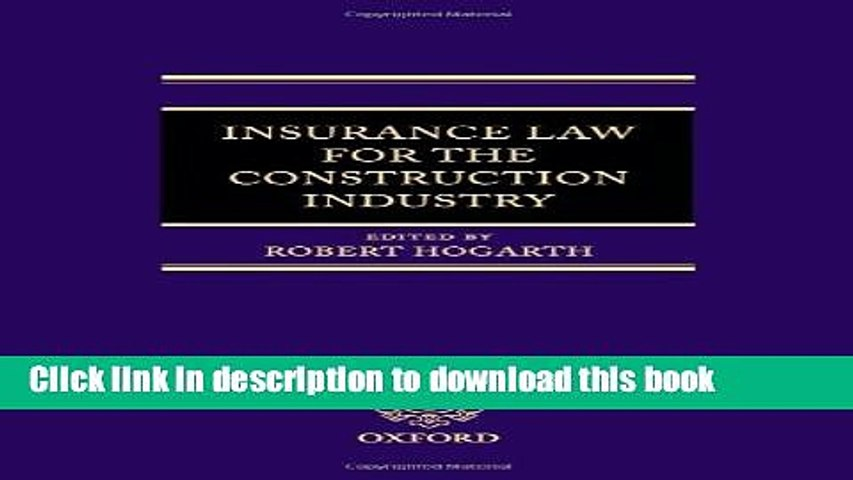 Bloggat om Insurance Law for the Construction Industry