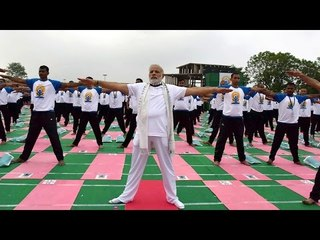 Watch | PM Modi performs yoga asanas with residents of Beautiful City