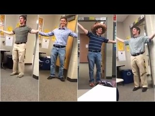 Spanish teacher's cheerful class greetings will brighten up your day