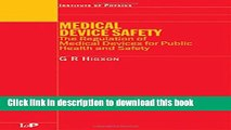 Ebook Medical Device Safety: The Regulation of Medical Devices for Public Health and Safety Full