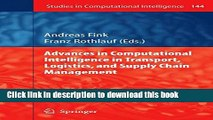 Ebook Advances in Computational Intelligence in Transport, Logistics, and Supply Chain Management