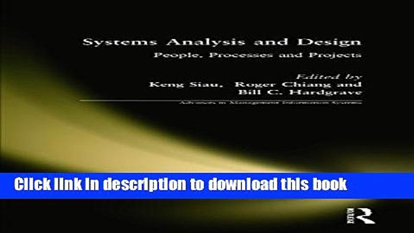 Books Systems Analysis And Design People Processes And Projects Full Online Video Dailymotion