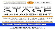 [Read PDF] The Back Stage Guide to Stage Management, 3rd Edition: Traditional and New Methods for